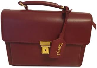 Saint Laurent High School Burgundy Leather Handbags