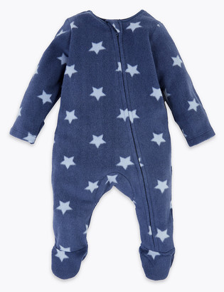 Marks and Spencer Fleece Star Sleepsuit (7lbs-12 Mths)