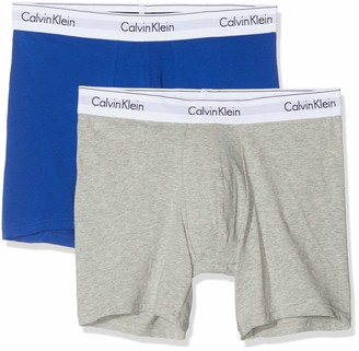 Calvin Klein Men's Boxer Brief (Grey Heather/SURF The Web SKJ) Medium