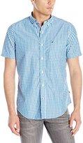 Nautica Men's Gingham Short Sleeve Shirt