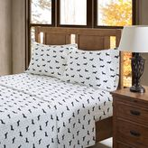 True North by Sleep Philosophy Olivia Flannel Sheet Set in Black/White