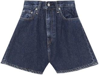 Ganni x Levis high-waisted shorts
