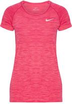 Nike Paneled Dri-fit Stretch T-shirt - Fuchsia