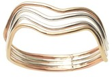 Journee Collection Women's Handcrafted Multi-band Ring in 14k Goldfilled Sterling Silver - Tri-tone
