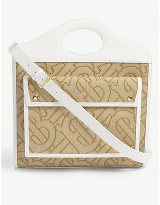 Burberry TB monogram woven bag