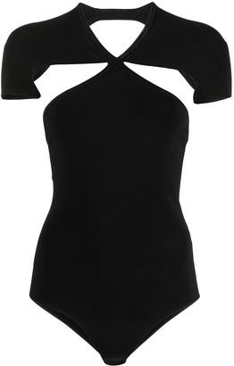 KHAITE Vita cut-out cotton bodysuit