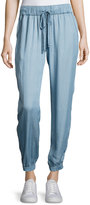 Sanctuary Chambray Jogger Pants, Blue