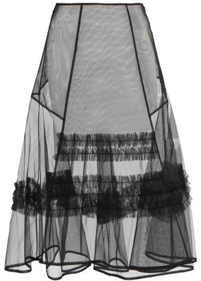 Molly Goddard Alva Frilled Tulle Skirt - Black