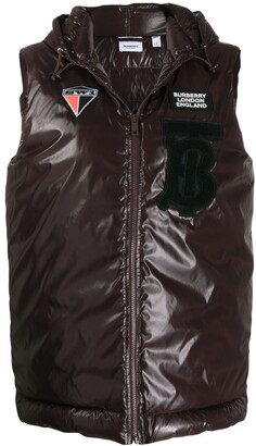 Burberry Logo Patch Padded Gilet