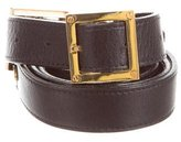 Tory Burch Leather Buckle Belt