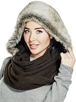 GUESS Faux-Fur Hooded Scarf