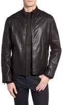 Cole Haan Men's Washed Leather Moto Jacket