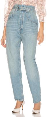 Etoile Isabel Marant Gloria Denim Pant in Light Blue | FWRD