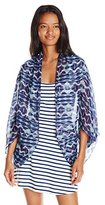 Rampage Women's Tribal Printed Cocoon Wrap
