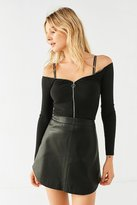 Urban Outfitters Zip Around Town Off-The-Shoulder Top