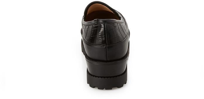 Forever 21 Embossed Flatform Loafers