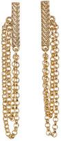 Cole Haan Textured Bar & Chain Drop Earrings