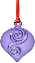 Kosta Boda Orrefors Holly Days Violet Christmas Bulb Ornament