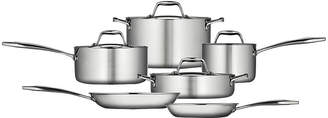 Tramontina Gourmet 10-pc. Tri-Ply Clad 18/10 Stainless Steel Induction-Ready Cookware Set