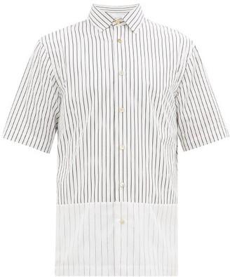 Paul Smith Striped Cotton-poplin Short-sleeved Shirt - Mens - White