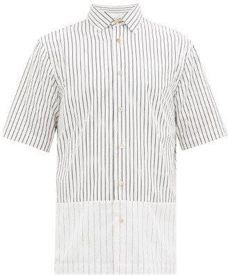 Paul Smith Striped Cotton-poplin Short-sleeved Shirt - White