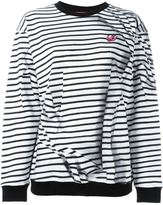 McQ by Alexander McQueen 'Swallow' striped sweatshirt - women - Cotton - M