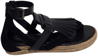 Neil Barrett Black Leather Sandals