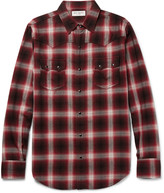 Saint Laurent - Nashville Slim-fit Checked Cotton-blend Flannel Shirt