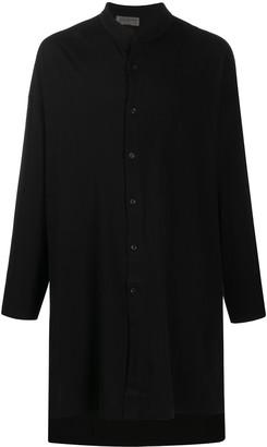 Yohji Yamamoto Long High-Collar Shirt