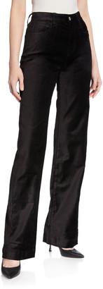 7 For All Mankind Alexa Velvet Wide-Leg Trousers