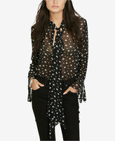 Denim & Supply Ralph Lauren Star-Print Necktie Blouse