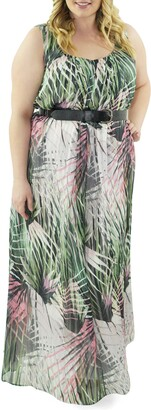Marée Pour Toi Print Maxi Dress
