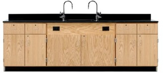 Diversified Woodcrafts Wall Service Bench Workstation