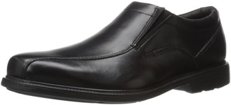 Rockport Men's Charles Road Slip-On Black Leather 7 W (EE)-7 W