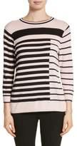 St. John Intarsia Stripe Sweater
