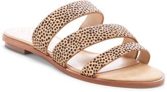 Sole Society Simonaa Genuine Calf Hair Slide Sandal