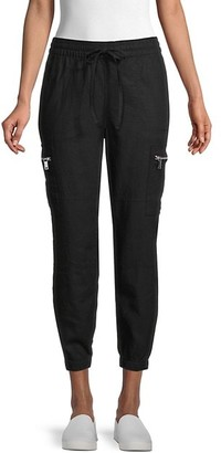 DKNY Six-Pocket Linen-Blend Cargo Pants