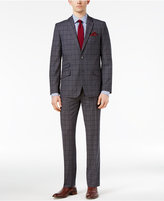 Ben Sherman Men's Slim-Fit Gray Plaid Suit