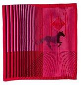 Hermes H Au Galop Cashmere Silk Shawl