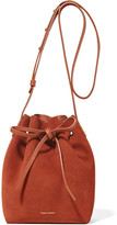 Mansur Gavriel Mini Suede Bucket Bag - Brick