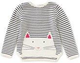 Joules Little Girls 3-6 Winnie Striped Cat Top