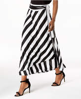 INC International Concepts I.n.c. Striped Wrap-Tie Maxi Skirt, Created for Macy's