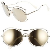 Miu Miu Women's 57Mm Retro Sunglasses - Brown/ Gold