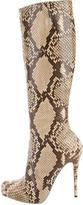 Christian Louboutin Python Knee-High Boots