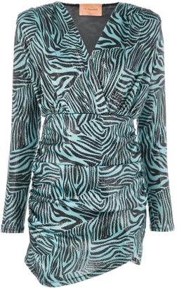 Andamane Zebra-Print Fitted Dress