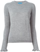 MiH Jeans 'Harpy' ribbed sleeves jumper