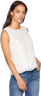 Kasper Women's Petite Floral LACE Detailed CAMI