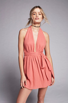 Free People Womens NADJA HALTER DRESS