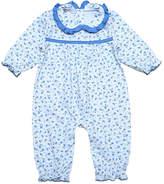 Blue Floral Pima Cotton Playsuit - Infant