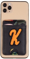 Laines London Customised Leather Card Holder Sticker - Black / Orange